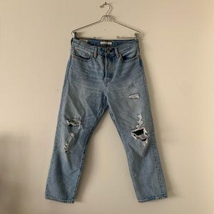 Levis Wedgie Straight Light Wash Jeans